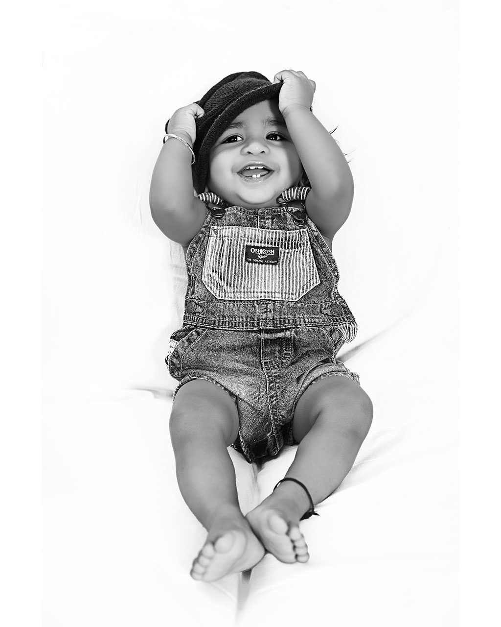 Portrait-of-a indian baby-boy having fun
