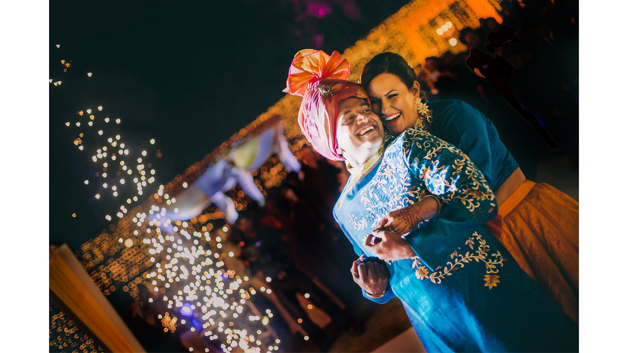 couple first dance wedding couple portrait at a Hyderabad destination wedding