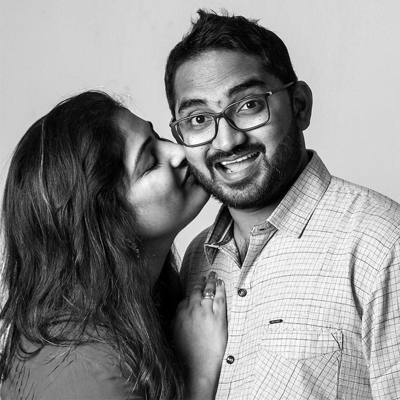 Portrait indian-couple