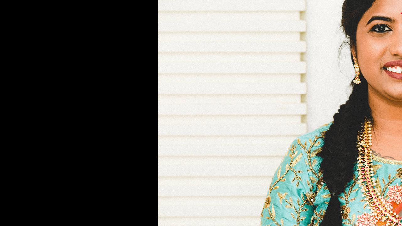 portrait of a Telugu bride