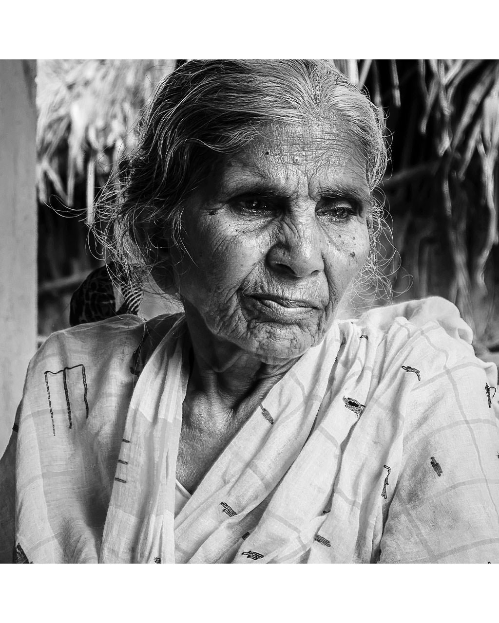 portrait of a old mother